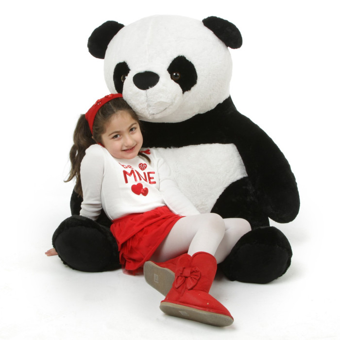 Papa Xin Giant Black and White Stuffed Huge Panda Bear 42in