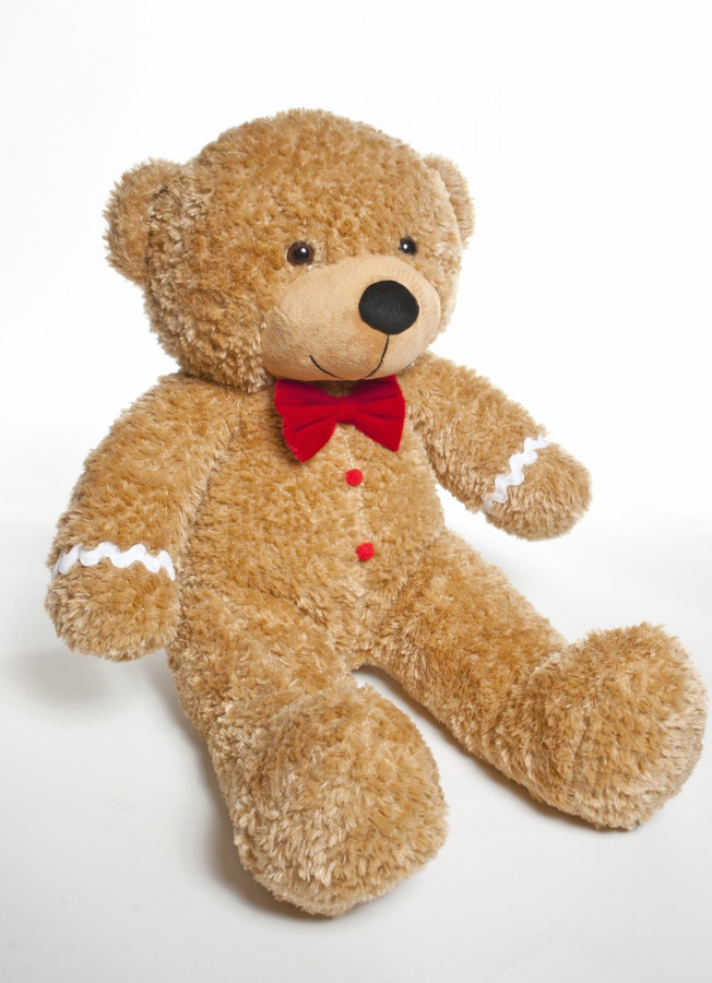 A sweet gingerbread teddy bear gift is cooking in our Christmas teddy bear kitchen and he is stuffed with love!