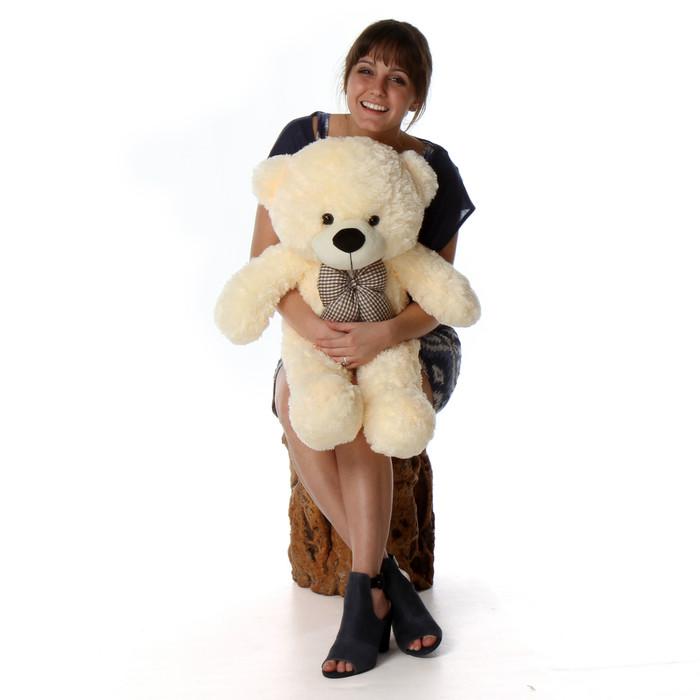 Huge Cream Teddy Bear Cozy Cuddles 38in