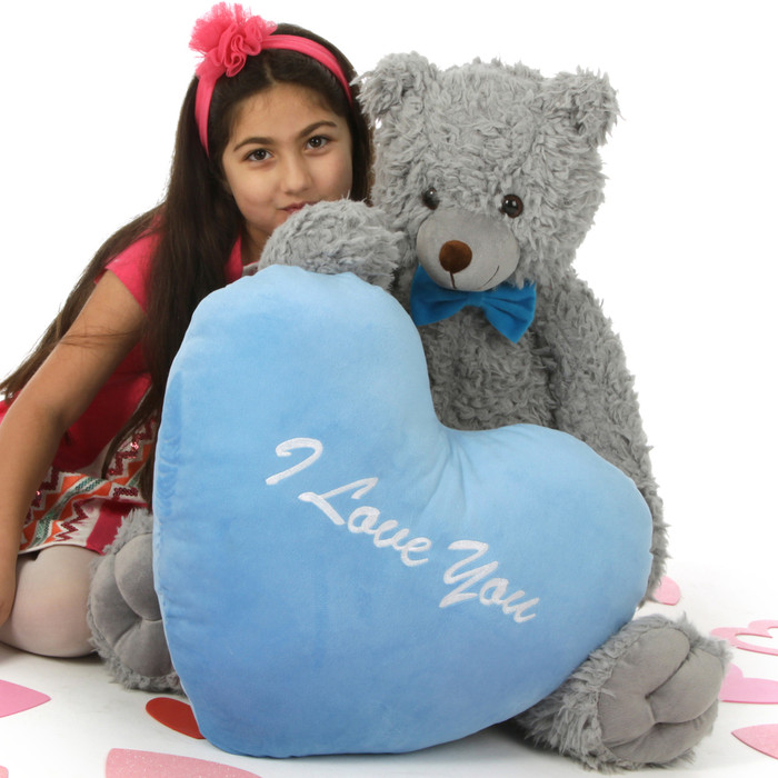 Sugar Woolly Tubs 32in Valentine's Day Teddy Bear