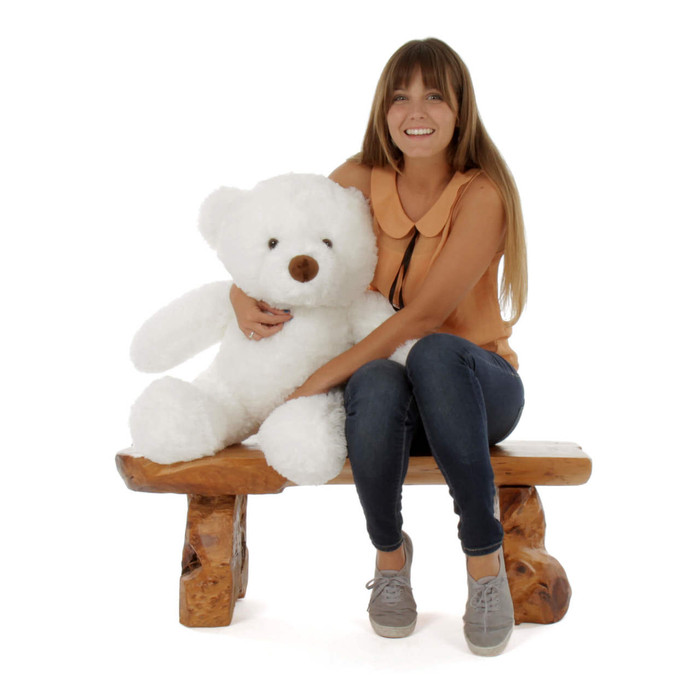 30in White Sprinkle Chubs Giant Teddy Bear (Model NOT included)
