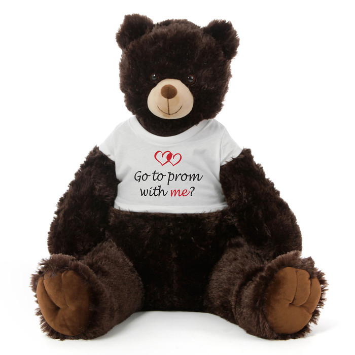 3½ ft Baby Tubs Cuddly Dark Brown Prom Teddy Bear (Go to prom with me?)