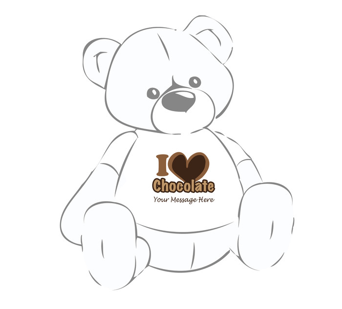 Personalized I Love Chocolate Giant Teddy Bear shirt