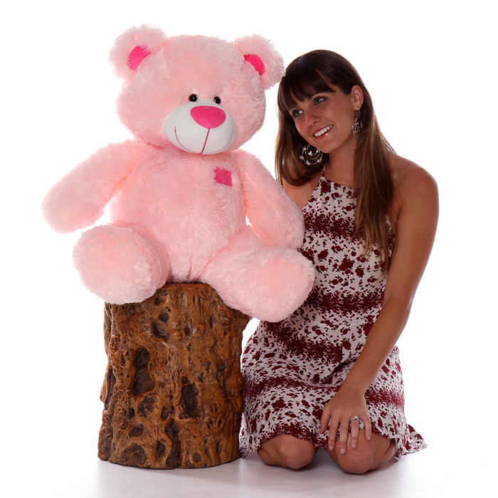 Big Teddy Bear Pink Birthday Gift for her by Giant Teddy Brand