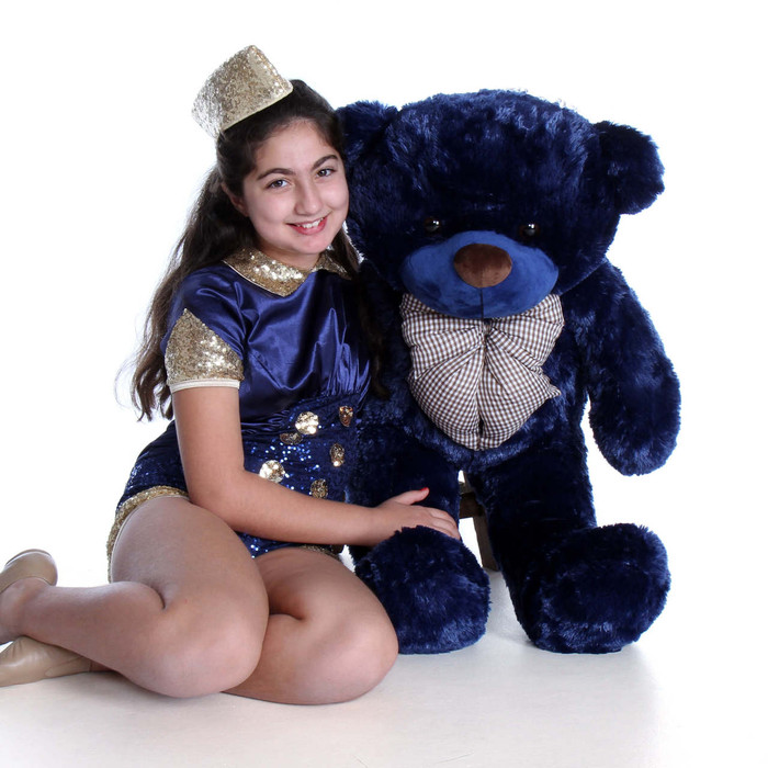 3ft Navy Blue Royce Cuddles Giant Teddy Bear