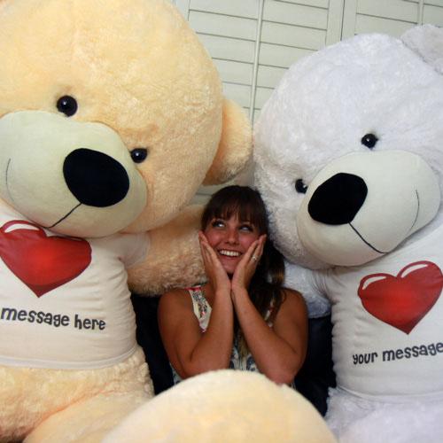 Big Customized Cream Teddy Bear 72 Inch