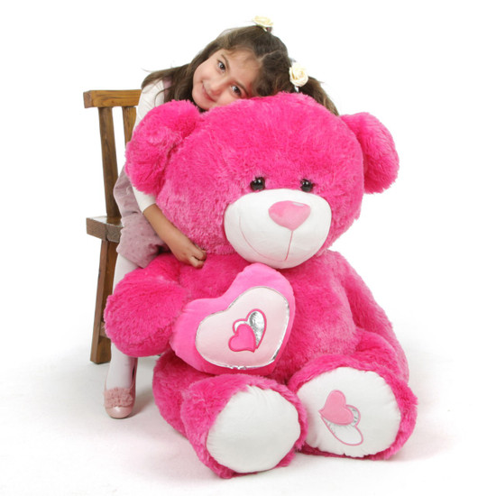 ChaCha Big Love 42 Hot Pink Valentine Teddy Bear Giant
