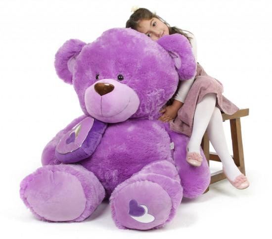 Sewsie Big Love 47 Lavender Valentine Teddy Bear Giant