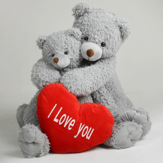 Sugar Kisses Valentineu0027s Teddy Bears With Heart I Love You Woolly Tubs 42  Inch And 32 Inch