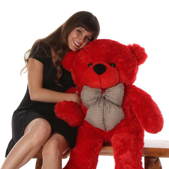 Bitsy Cuddles 38 Large Red Plush Teddy Bear Giant Teddy