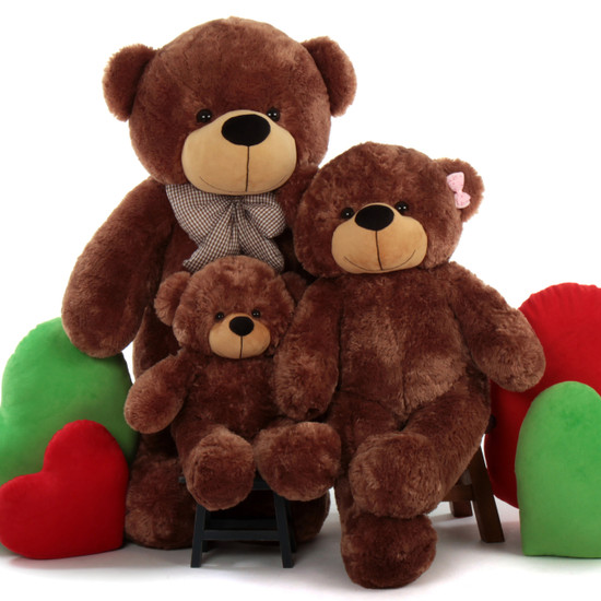 Giant Teddy 3 Teddy Bears Family Brown Sunny Cuddles