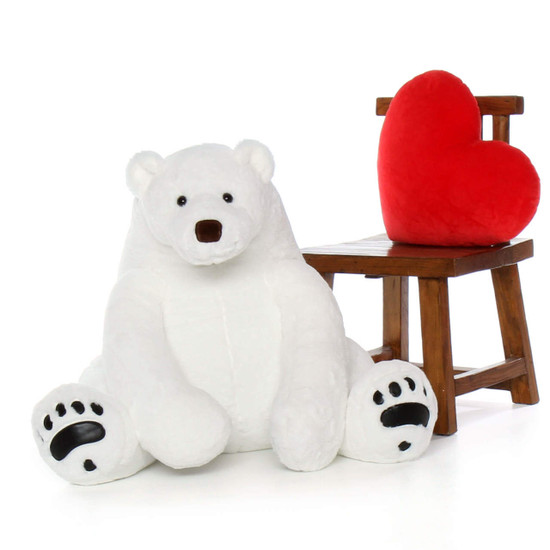 Enormous White Polar Bear 35in Marshmallow Frost Giant Teddy