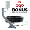 weBoost 473120 eqo Cell Phone Signal Booster with Bonus Outside Antenna: Bonus Equipment