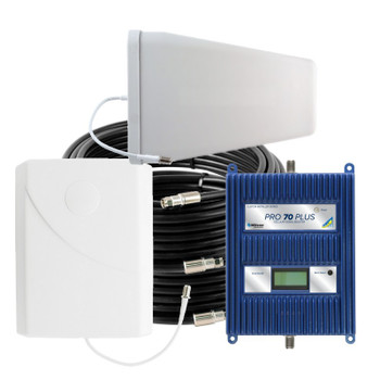 WilsonPro 70 PLUS Cell Phone Signal Booster System with 1 Panel Antenna 460127 (75 Ohm): Kit