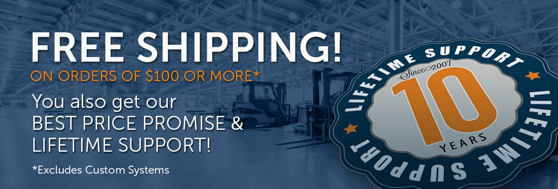 Free Shipping on orders of $100 or more | Best Price Promise and Lifetime Support
