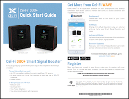 Download the Cel-Fi DUO+ Wireless Smart Signal Booster D32-2/4/13 quick start guide (PDF)