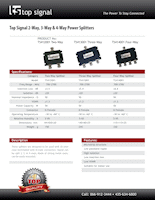 Download the Top Signal 2-Way Splitter 50 Ohm N-Female TS412001 spec sheet (PDF)