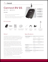 Download the weBoost Connect RV 65 471203 spec sheet (PDF)