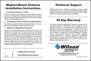 Download the Wilson 301113 installation guide (PDF)
