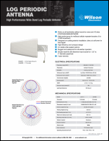 Download the Wilson LPDA antenna 314475 spec sheet (PDF)