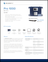 Download the WilsonPro 1000 spec sheet (PDF)