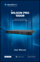 Download the WilsonPro 460237 Pro 1000R user manual (PDF)
