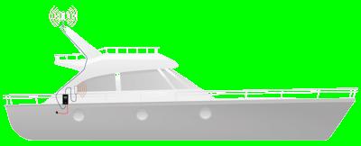 Marine Top Signal HiBoost 4K Cabin setup diagram