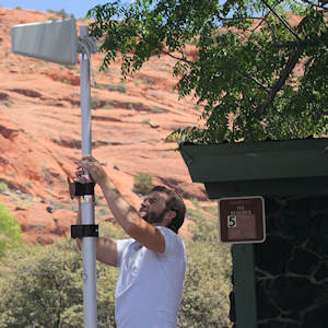 Setting up the weBoost Connect RV 65 telescoping antenna mount