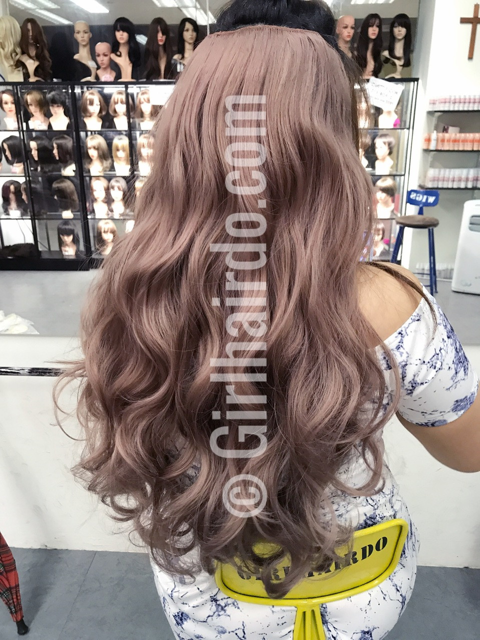 Pastel Pink Long Curly Hair Extensions Many Videos Inside