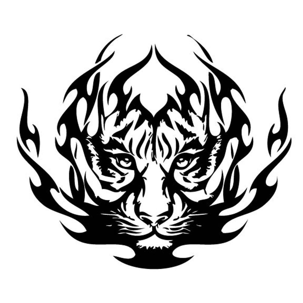 Animal Car Decals Car Stickers Tiger Car Decal 02