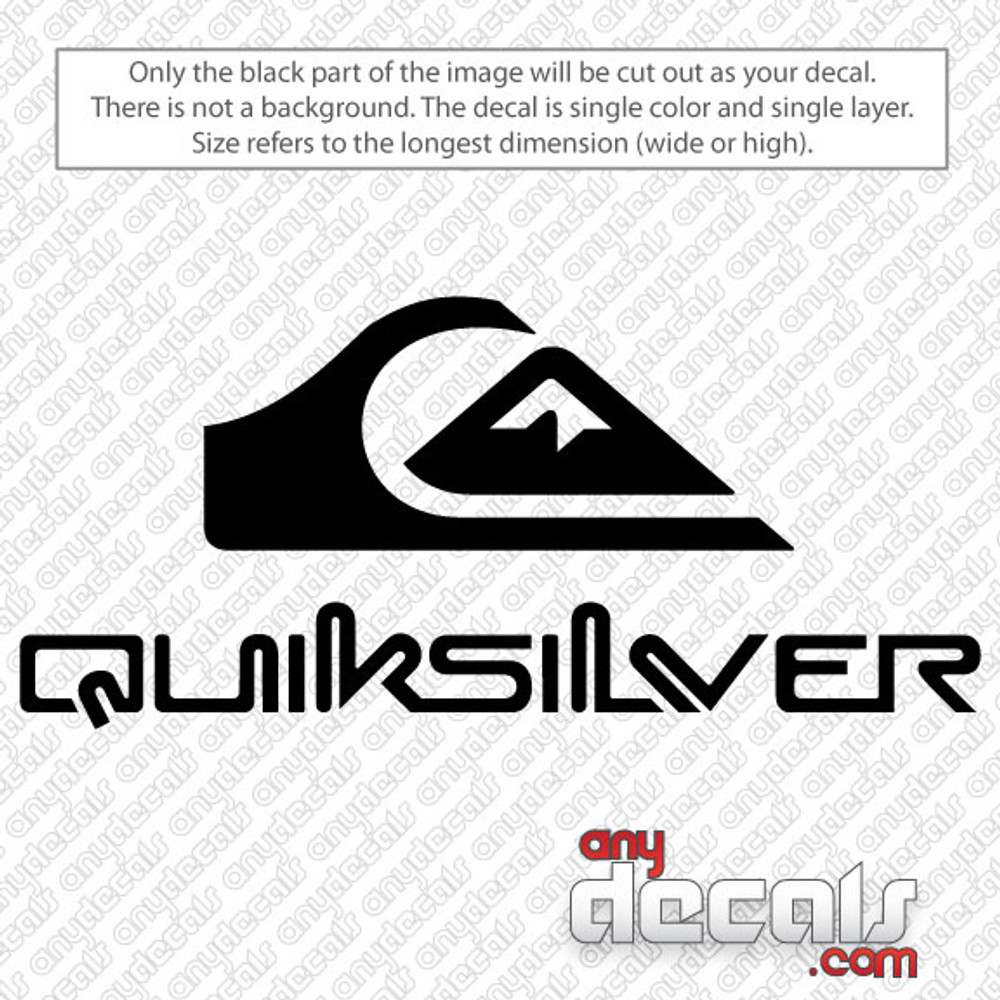 Quiksilver surf car decal