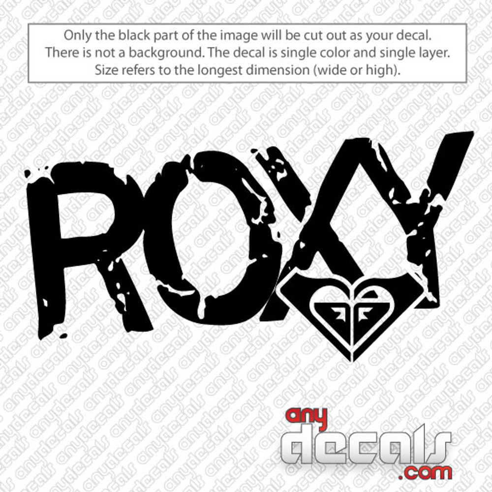 Roxy Car Decal Stickers
