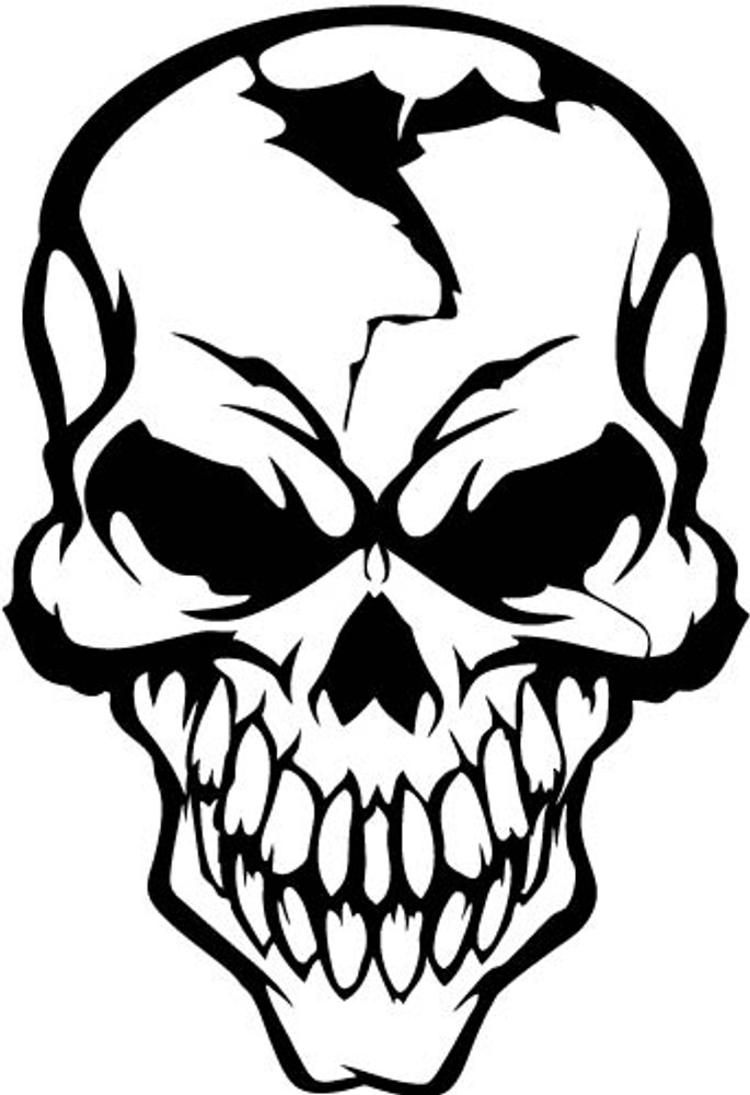 Car Decals Car Stickers Skull Car Decal 09 Anydecals Com