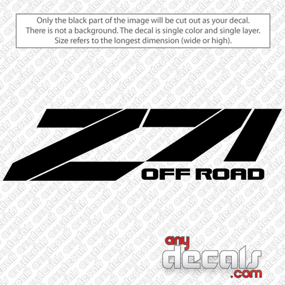 Car decals truck decals chevy z71 decals