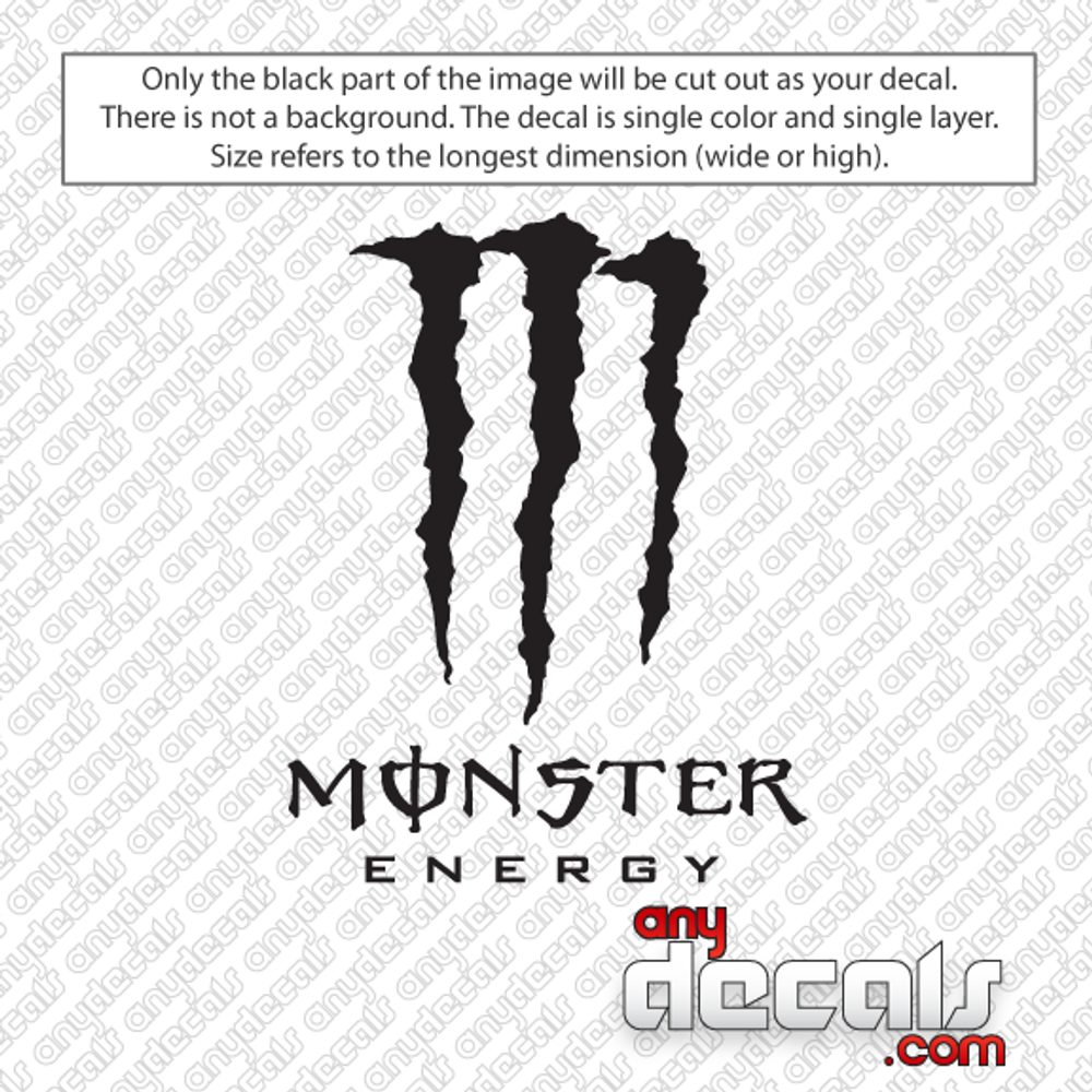 Monster energy car decals energy drink car decals