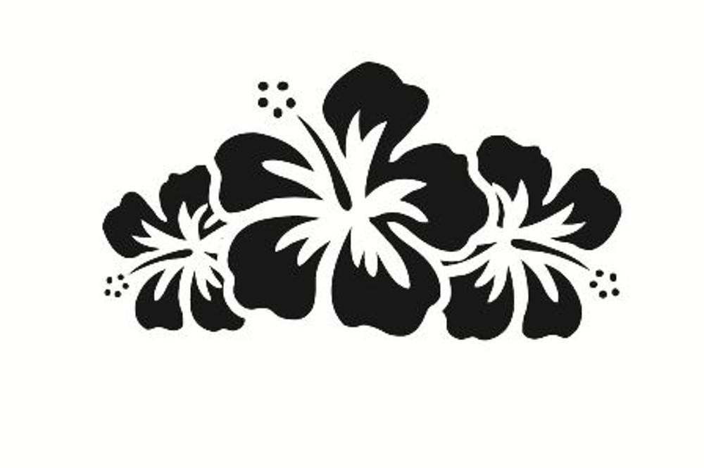 Flower Car Decals Car Stickers Hibiscus Flower Car