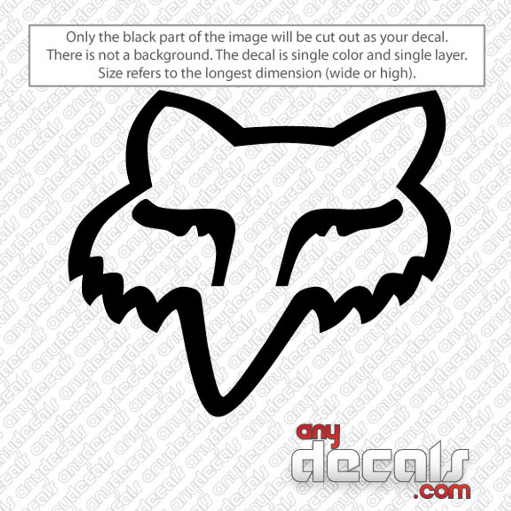 Fox racing fox head car decal