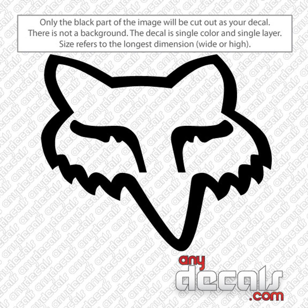 motocross decals, fox racing decals, car decals, car stickers, decals for cars, stickers for cars, window stickers, vinyl stickers, vinyl decals, fox head