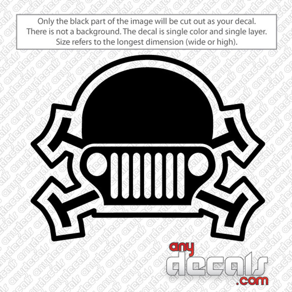 Jeep Car Decals Car Stickers Jeep Skull Car Decal Anydecals Com