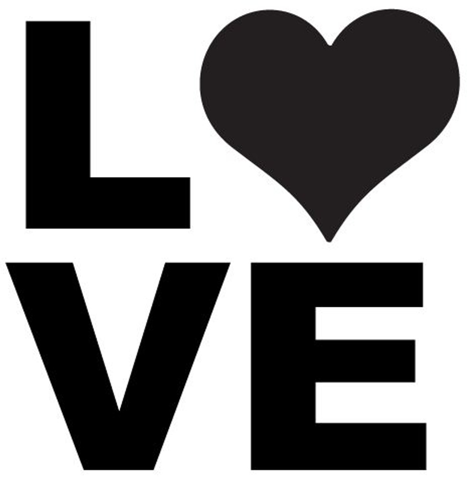 Love heart car decal