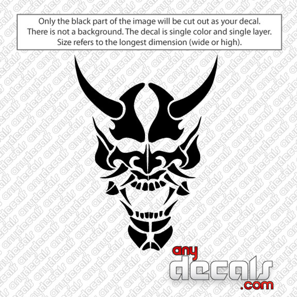 Demon mask car decal