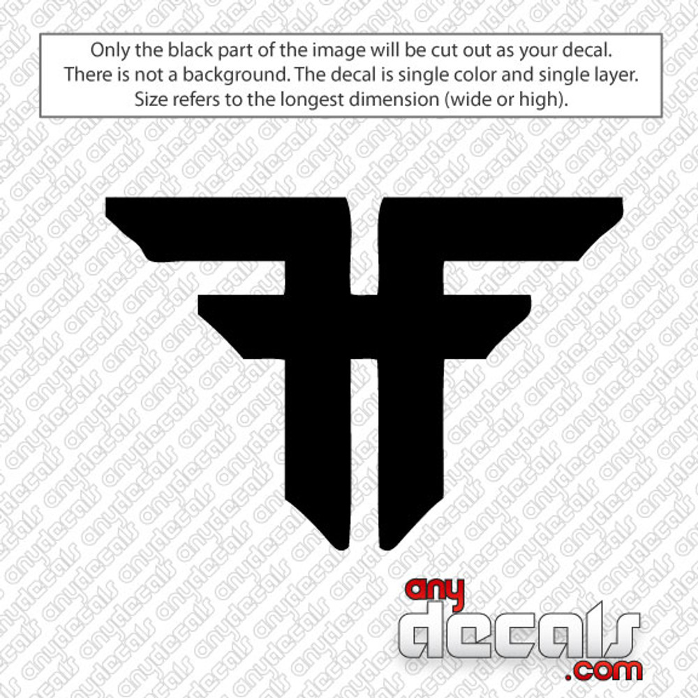 Fallen skateboard logo car decal