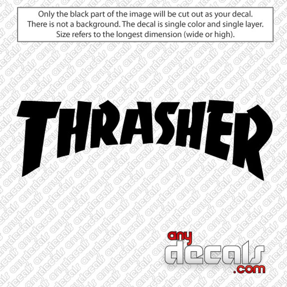 Thrasher logo style skateboard logo car decal surf decals skate decals surf stickers