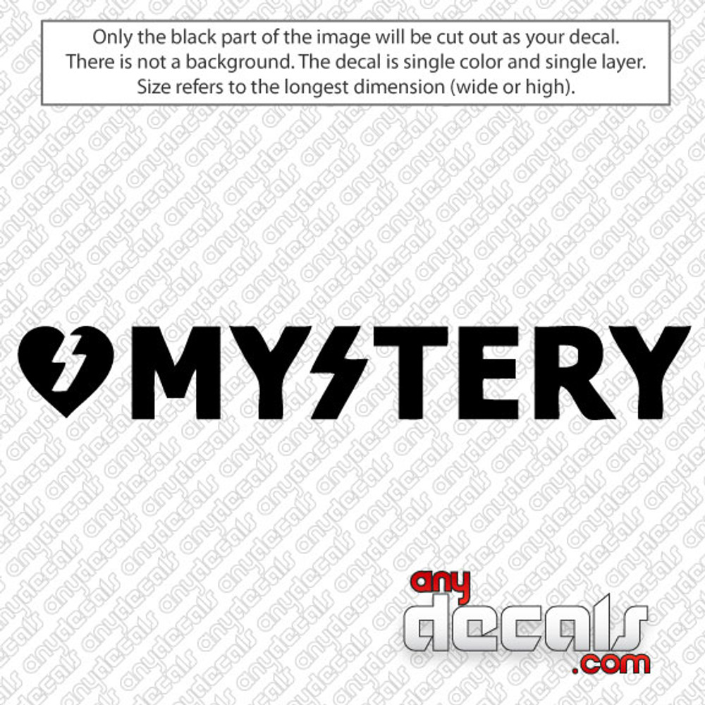 Mystery skateboard text car decal