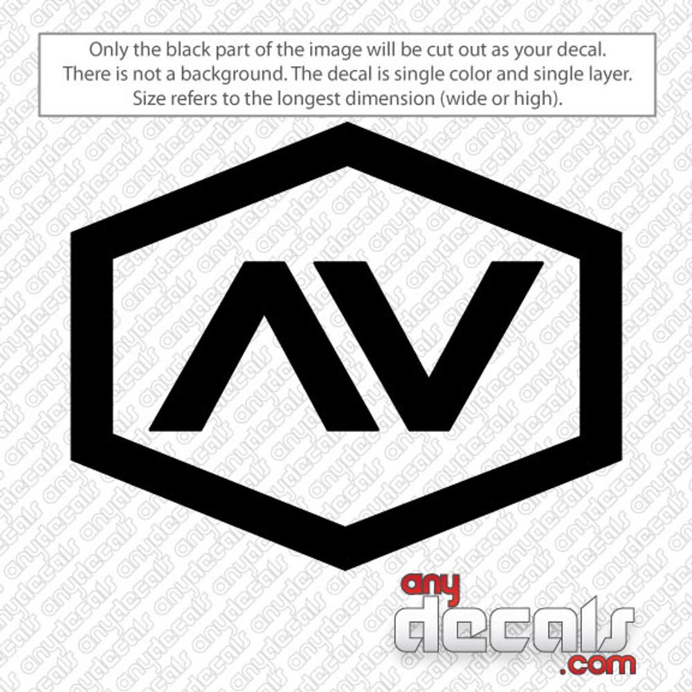 VA Hex car decal, RVCA car decals and stickers