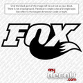 Fox Racing with Foxtail car decal