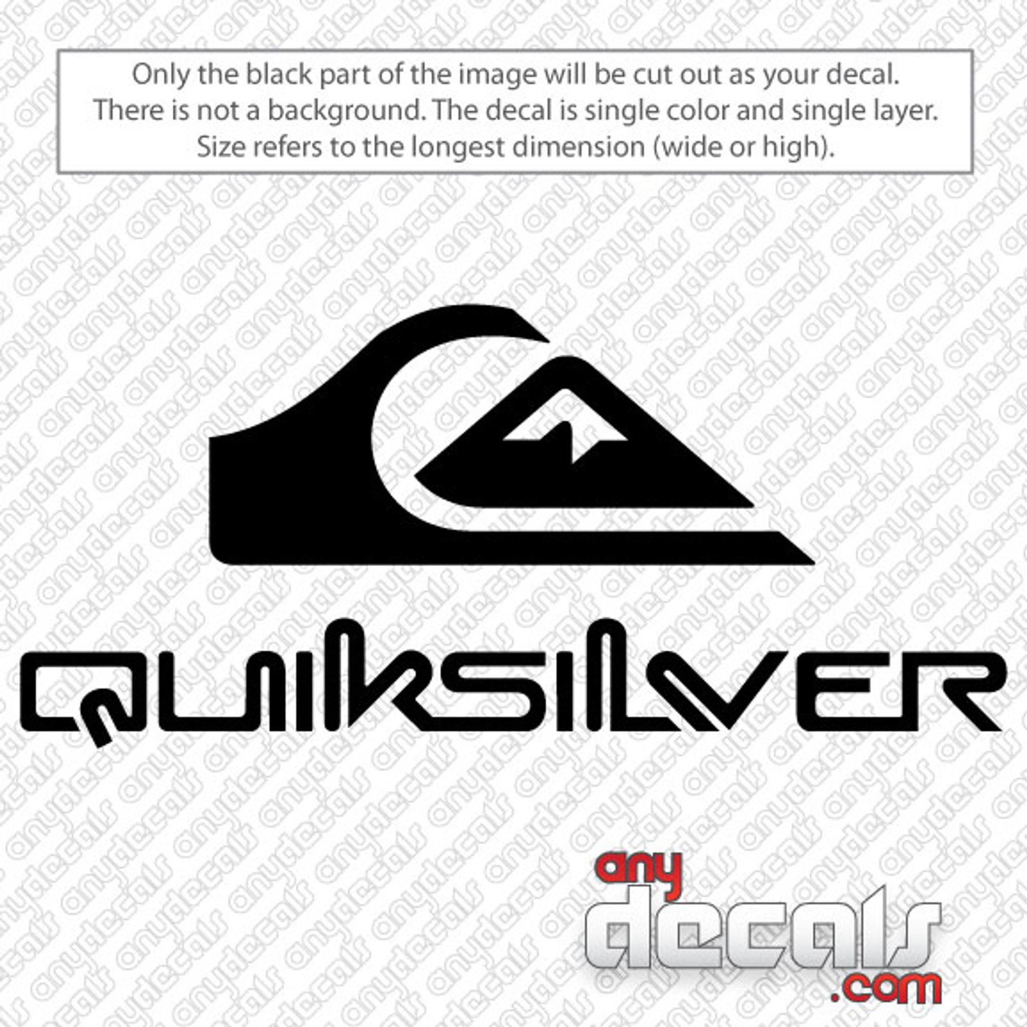 Car Decals Car Stickers Quiksilver Surf Car Decal