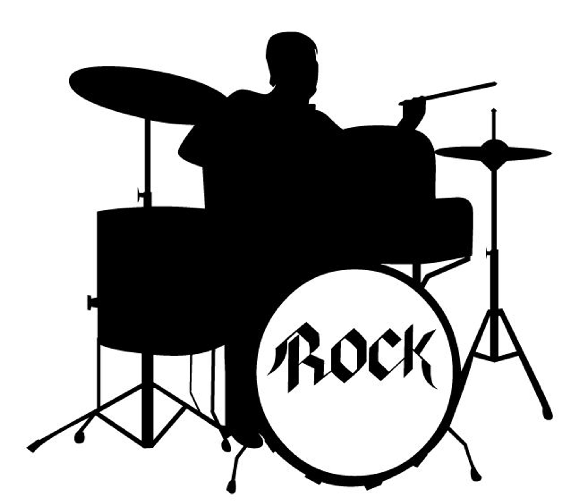 music car decals car stickers rock drummer car decal. Black Bedroom Furniture Sets. Home Design Ideas