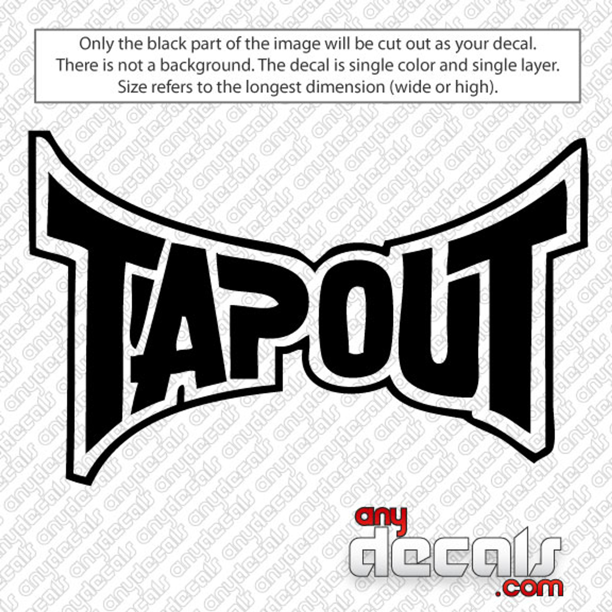 Car Decals Car Stickers Tapout Logo Car Decal