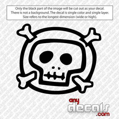 skull decals, car decals, car stickers